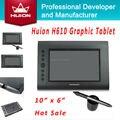 HUION H610 Tabletas Digitales $ number pulgadas 4000 LPI 2048 Niveles Nueva Genuina Tabletas de Dibujo Arte Tableta Gráfica Firma Tabletas Negro