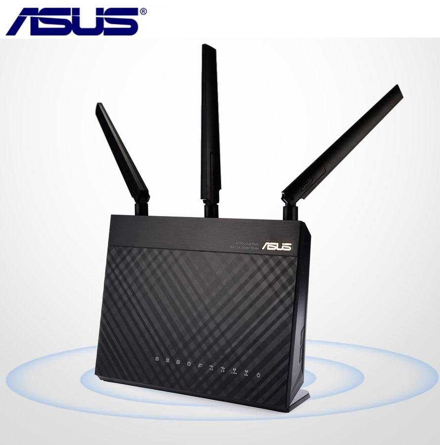 ASUS RT-AC1900P 1900Mbps Dual-band Wireless Router Dual Core 1.4GHz WiFi Gigabit Router Support Android IOS MAC OS X,Windows цена и фото