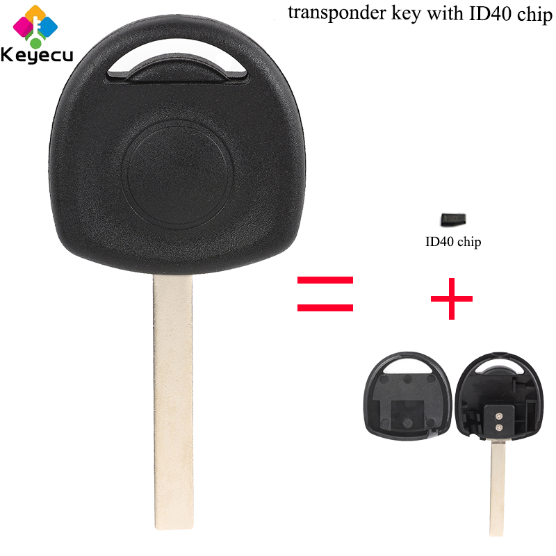 VAUXHALL CORSA COMPATIBLE TRANSPONDER KEY complete with ID40 Transponder Chip
