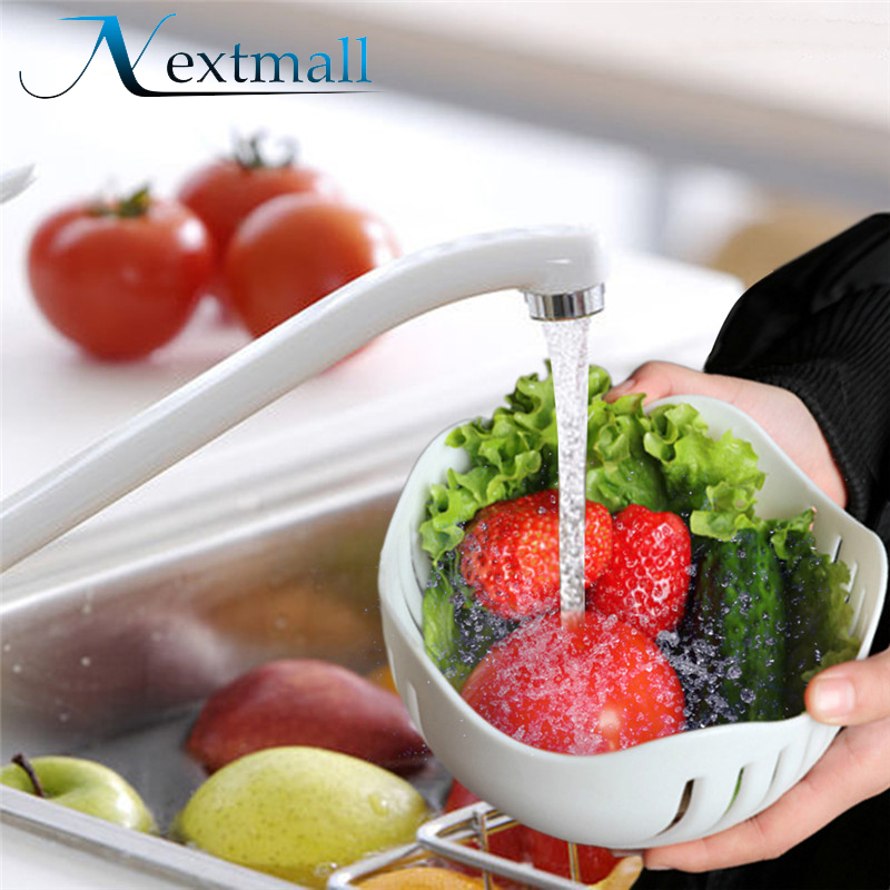 Nextmall Fruits and Vegetables Salad Bowl Food-grade Plastic PP Pots Of Fruit Salad Bowl Containers Kitchen Cooking Tools