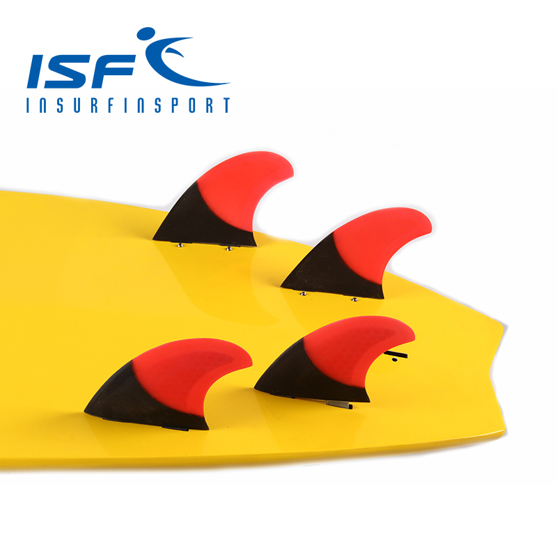 Red Quad FCS Carbon Fiber Surfboard Fins Surf Fins Paddle Board Fin Four Pieces Of Fins