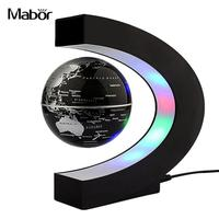 Terrestrial Globe Light Black/Gold/Blue C Shape LED World Map 6 Inches UK/AU Plug Suspension Decoration Bedroom Night Light