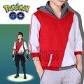 Equipo de Valor Místico Instinto Entrenador Figura Pokemon Ir Con Capucha Escudo Cosplay Roja