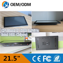 21.5 inch Resistive touch screen Resolution 1920X1080 industrial all in one pc with intel i7 3.6GHz cpu