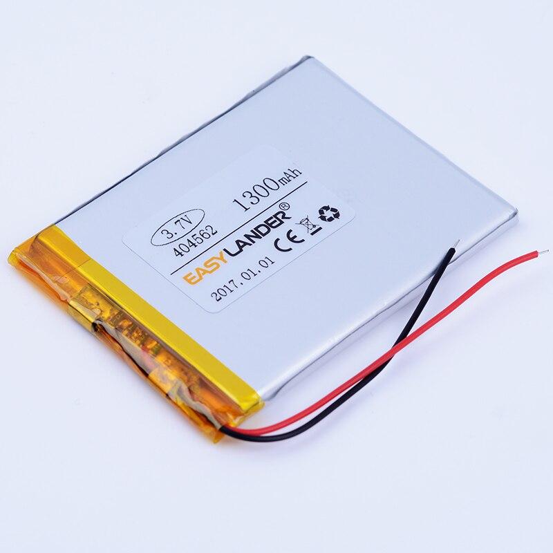 3.7 V 1300 mAh li-Polymère Li-ion Batterie Pour petit E-Book mp3 mp4 gps podomètre véhicule circulant enregistreur de données 404562