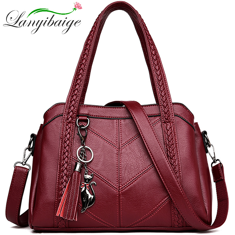 Women Casual Tote Bag Female Handbag Small Shoulder Bag For Women Tote Ladies Vintage Genuine Leather Crossbody Bag Sac A Main