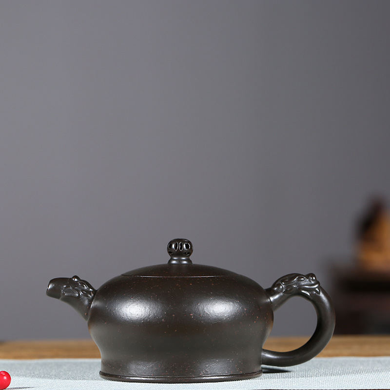 Yixing violet argile pot véritable artisans célèbres tout fait à la main brut minéral azur boue Yulong pot Kungfu théière ensemble de thé