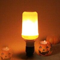 E27 E26 SMD2835 2 Modes LED Bulbs Flame Effect Fire Light Bulbs Flickering Emulation Decorative Lamps