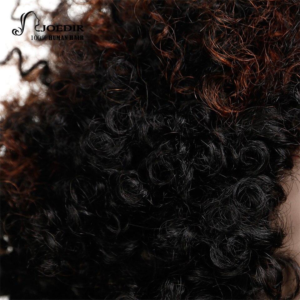 Joedir Short Curly Parykar För Kvinnor Brazilian Remy Mänskligt - Skönhet och hälsa - Foto 5