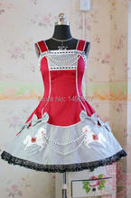 Japanese Anime Babydoll Dress Sweet Love Lolita Dress Christmas Cosplay Costume Cute Party Dress for Girls S-XL Purple/Black/Red