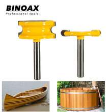 Binoax 2 pcs 1/4 Diameter Canoe Flute and Bead Router Bit set Woodworking Cutting Tools-1/4 Shank