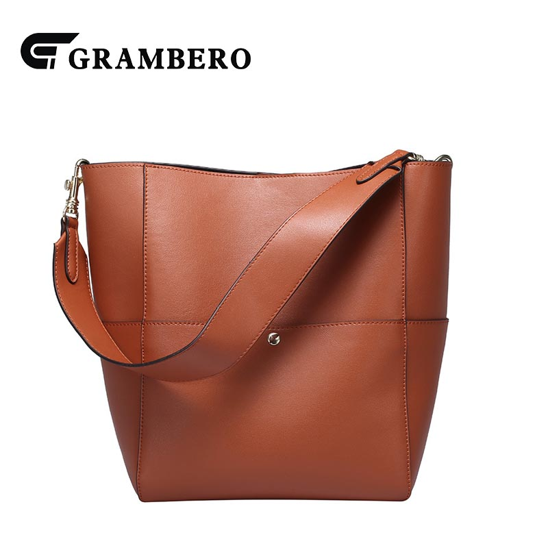 Fashion Women Genuine Leather Bucket Bag Birthday Gifts Soft Split Leather Solid Color Hasp Handbag Large Capacity Shoulder Bags 2017 new women genuine leather bucket handbag fashion panelled color large capacity female single shoulder bag bbh1346