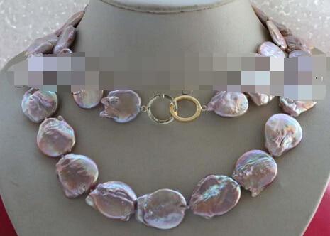 """huij 004138 35"""" Genuine Natural Purple Reborn Keshi Reborn Pearl Necklace 14k"""