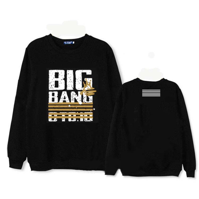 HPEIYPEI KPOP Korean BIGBANG 10th Anniversary Album Hoodie K-POP Cotton Hoodies Clothes Pullover Printed Long Sleeve Sweatshirts