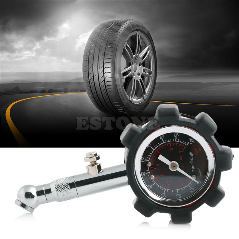 Image 3 - Motor Car Truck Bike Tyre Tire 0 100 PSI Air Pressure Gauge Dial Meter Tester