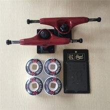 Element Skateboards Components Aluminum Skateboard Trucks 5.25″ Skateboarding Wheels 52mm with A Riser Pads