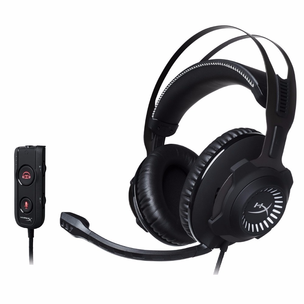 Kingston Hyperx Écouteur Revolver S Gaming Headset con Dolby 7.1 Surround Sound 3.5mm Microfono per PC PS4 Xbox One S