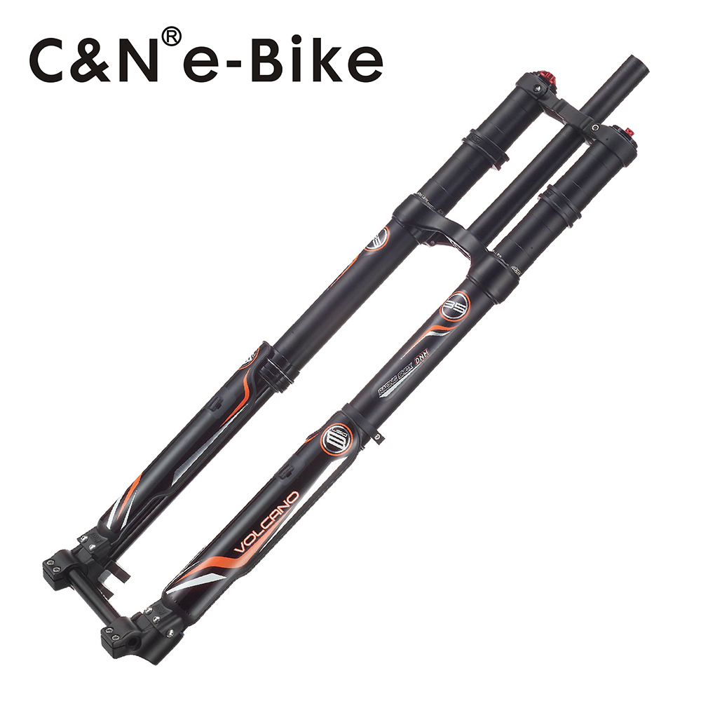 2018 Latest Ebike Triple Crown Front Fork Cycling Road Bike DNM USD-8 Air Suspension for Electric Bicycle free shipping conhismotor ebike front fork dnm usd 6 fat bike air suspension downhill electric bicycle parts