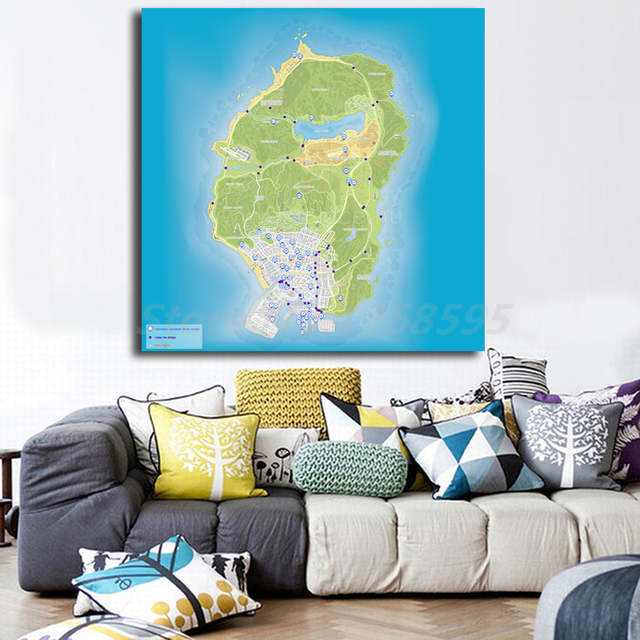 Location Map Hd Wall Art Canvas