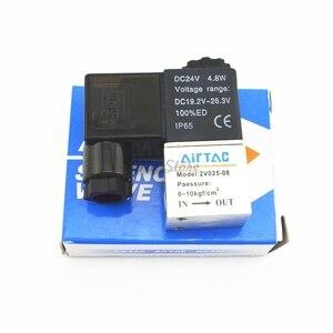 Pneumatic 2 Way 2 Position Air Directional Control Solenoid Valve 2V025-08 DC12V DC24V AC110V AC220V