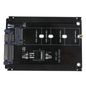 Image 3 - Nero Cassa del Metallo CY B + M Presa di 2 M.2 NGFF (SATA) SSD DA 2.5 SATA Adattatore per 2230/2242/2260/2280 millimetri m2 Disco A Stato Solido