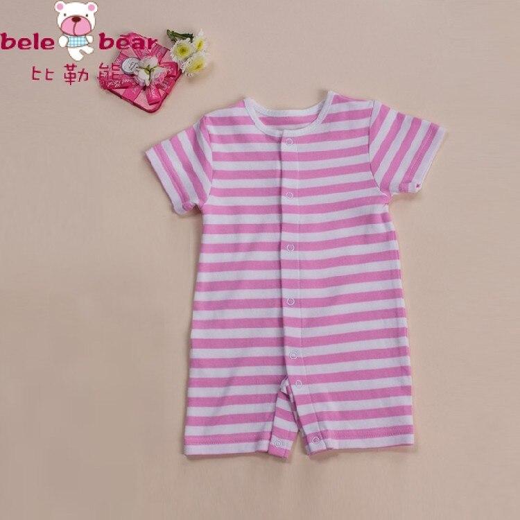 Romper do bebê do algodão, de manga curta recém-nascido macacão de bebê meninos/meninas listrado menino e da menina roupas vestido Frete Grátis