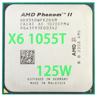 AMD Phenom II X6 1055T 2.8Ghz/ 6M /125W Six Core Socket AM3/AM2+ 938 pin CPU Processor Free Shipping