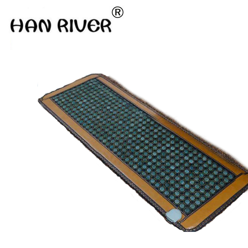 цена 2018 Beauty Centre Massage Bed Jade Stone Mattress Jade Far Infrared Jade Mat Made in China As Seen On TV 0.7X1.6M Free Shipping
