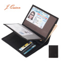 J.Quinn Travel Wallet Men Large ID Wallets Zipper Pouch 7 Credit Card Holder Genuine Leather Soft Short Mens Purse 2 Photo