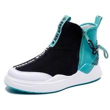 Moxxy 2018 Autumn Martin Boots Platform Winter Flats Shoes Woman Zip Gingham Air Mesh Women Shoes Sneakers Casual Bota Feminina
