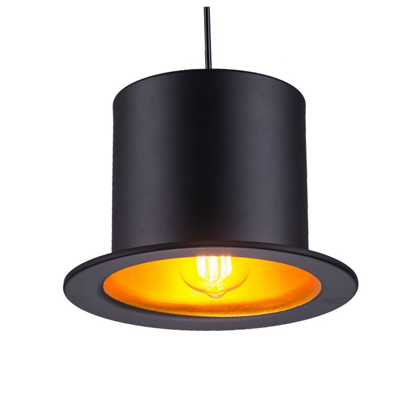 Creative Top Hat led Pendant Light aluminum lampshade 9W lamp light black gold D26cm*H18cm new design drop light home shop Bar hat light new design top pendant lights aluminum gentleman formal hat light creative pendant lamp for kitchen coffee shop bar