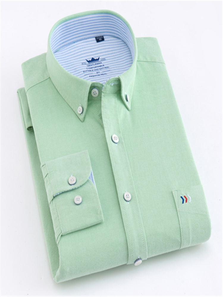 Image 4 - Мужские классические рубашки с длинным рукавом и одним передним нагрудным карманом из 100% хлопка, повседневные мужские топы на пуговицахРубашки для смокинга    АлиЭкспресс