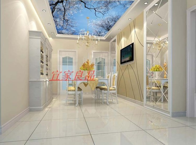Modern Large Mural Jane European Zenith Ceiling Kitchen Wallpaper Tree Ice