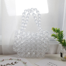 Clear Transparent Acrylic Beads Bags Handmade Crystal Bags T