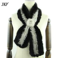 JKP hot sale natural mink fur knit scarf women's scarf real women autumn and winter mink shawl coat new fashion discount