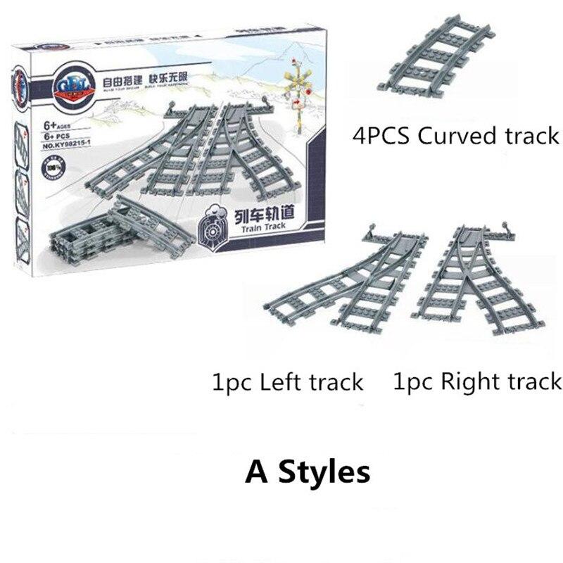 City Züge Technik Flexible Schiene Gerade Gebogene Schienen Bausteine Set für Kinder Kreative Bildungs Bricks Kinder