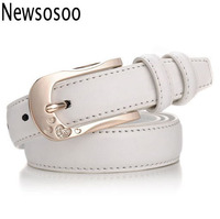 2016 european designer women lady fashion brand luxury belts top quality Cowhide Genuine Leather jeans casual belt white red