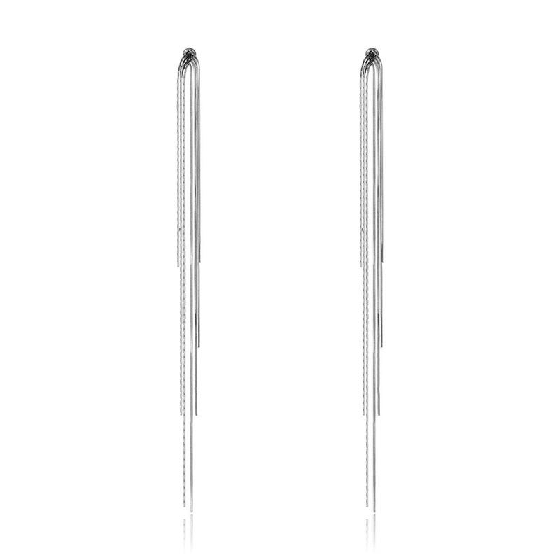 New Metal Drop Earrings Fashion Geometric Long Tassel Dangle Earring Luxury Earrings for Women Oorbellen pendientes mujer