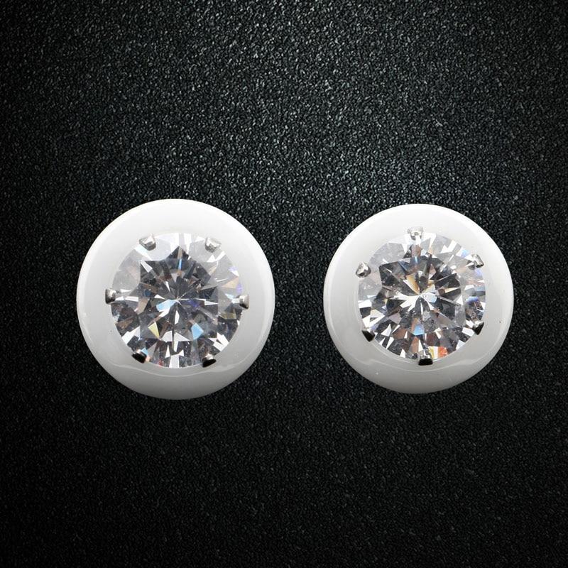 Aromat e reja Veshjet qeramike të bardha të zeza për vathë për - Bizhuteri të modës - Foto 2