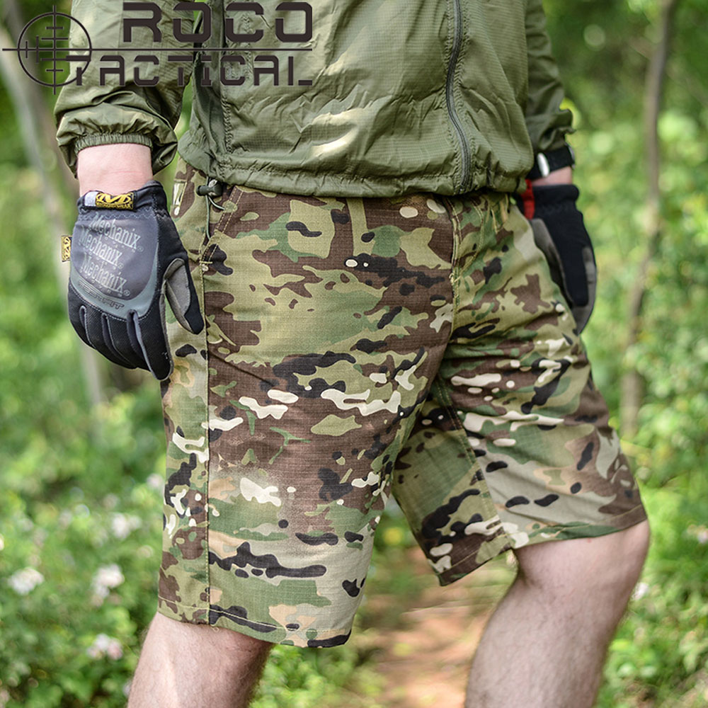 Mens Camouflage Outdoor Hiking Shorts Military Utility Shorts City Urban Multi-Pocket Tactical Cargo Shorts Digital Desert Khaki