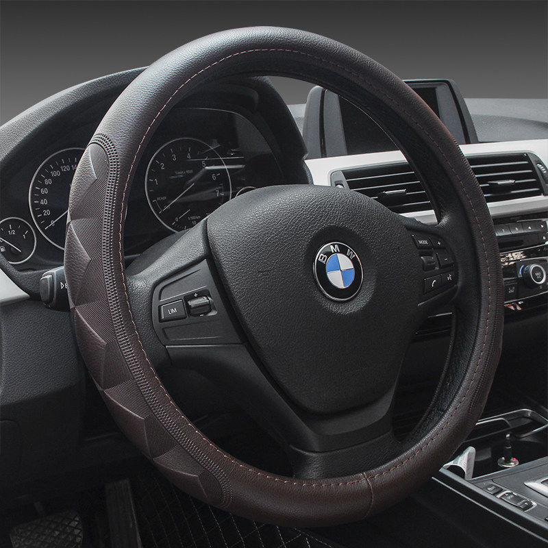 Leather steering wheel cover for all seasons Tiida Sylphy Nissan Teana new Qashqai Paladin Royal leisure