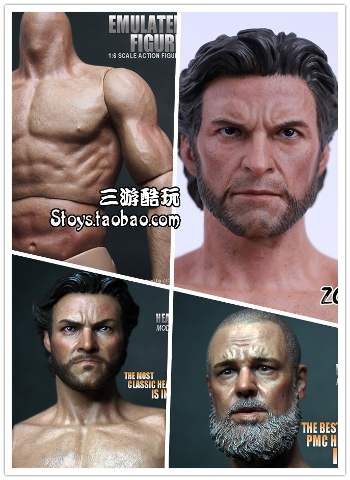 1/6 figure accessories doll body for 12 action figure doll Muscle Male body,or choose with Russell Ira Crowe or Wolverine head 2016 compatible zc toys 1 6 scale muscular figure body with russell ira crowe leonardo wolverine head zc01 zc02 zc03