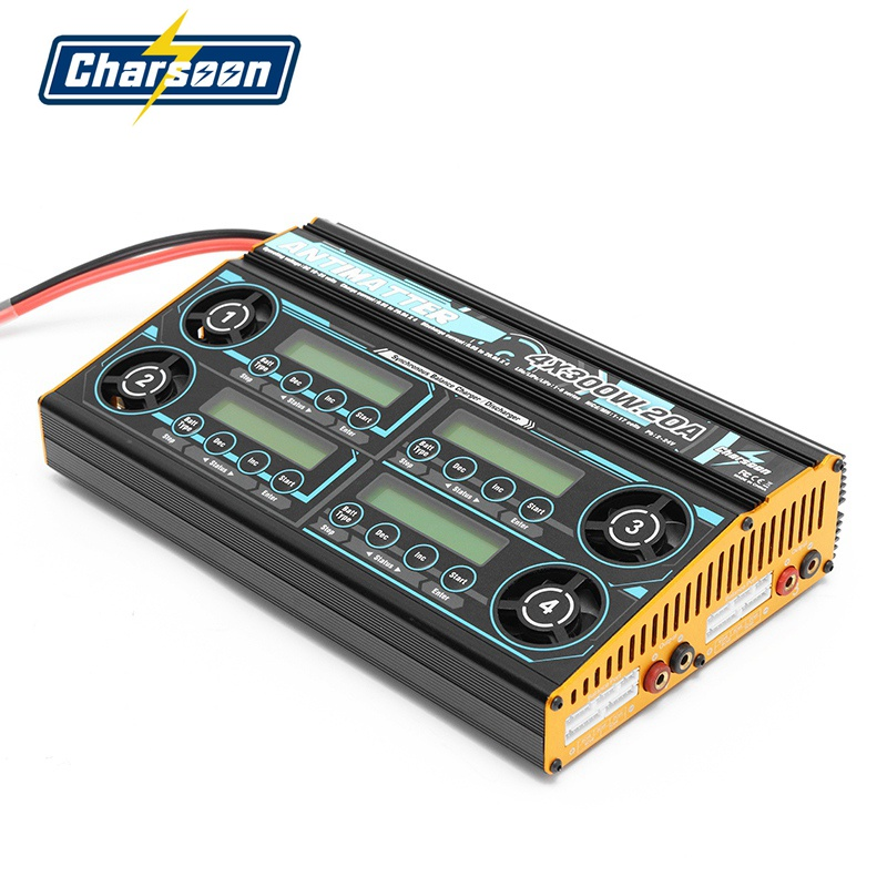 Charsoon Antimatter 4X300W 20A Synchronous Balance Charger Discharger For LiPo / LiFe / NiCd / PB Battery for RC Models Power skyrc rc car drone b6 nano smart balance charger discharger app control for lipo lihv life lilon nicd nimh pb rc boat battery