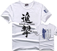 Attack On Titan T-Shirt White Color Surveys Corps Anime T Shirts Eren Levi Costume Shingeki No Kyojin Tshirt