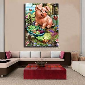Image 2 - 今まで瞬間ダイヤモンド塗装手作り豚野菜趣味の画像ラインストーン 5D diyダイヤモンド刺繍アートワークASF1658