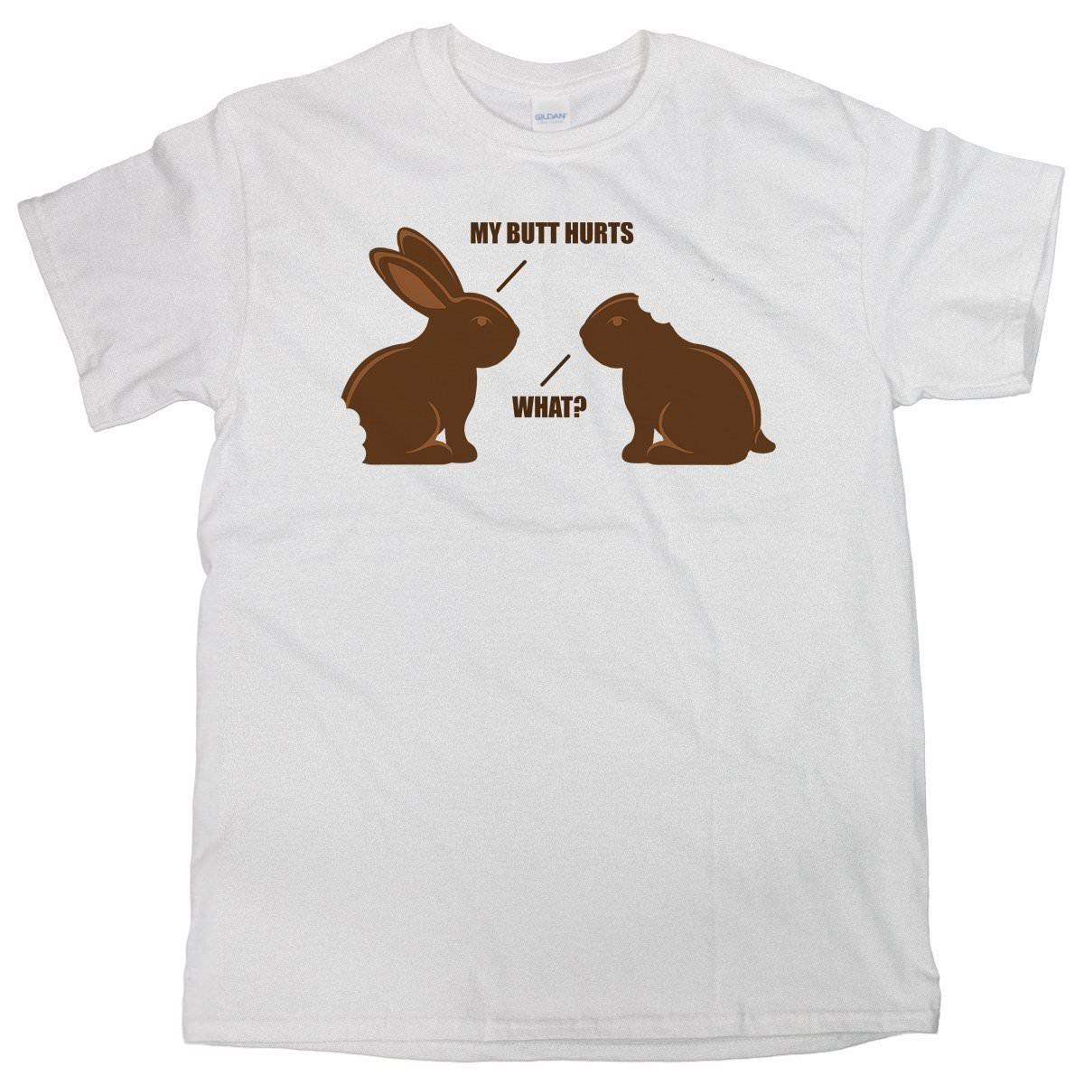 Chocolate bunny shirt Funny Bunny Shirt Easter  Free shipping newest Fashion Classic