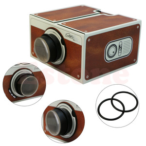 Image 4 - 送料無料ポータブル段ボールスマートフォンプロジェクター 2.0/組立電話プロジェクターシネマドロップ無料