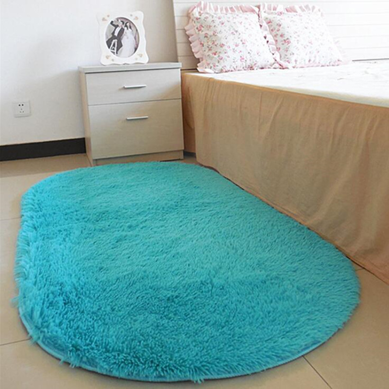 Large Size 16 Colors Soft Oval Carpet Area Rugs Slip Resistant Floor Mats For Parlor Living Room Bedroom Home Supplies image