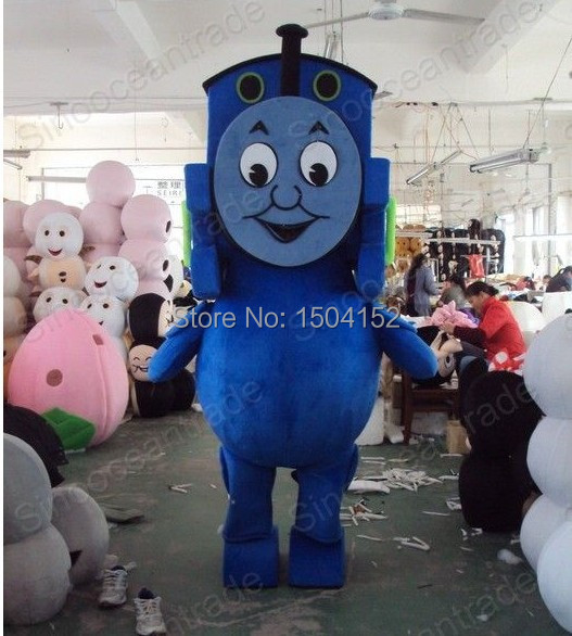 Thomas the Tank Engine Railway Train Plush Mascot Costume Adult Size Fancy Dress Suit Free Ship