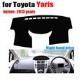 Painel do carro capas Para TOYOTA YARiS antes de a 2013 ano da movimentação da mão Direita dash covers mat Auto painel acessórios protetor